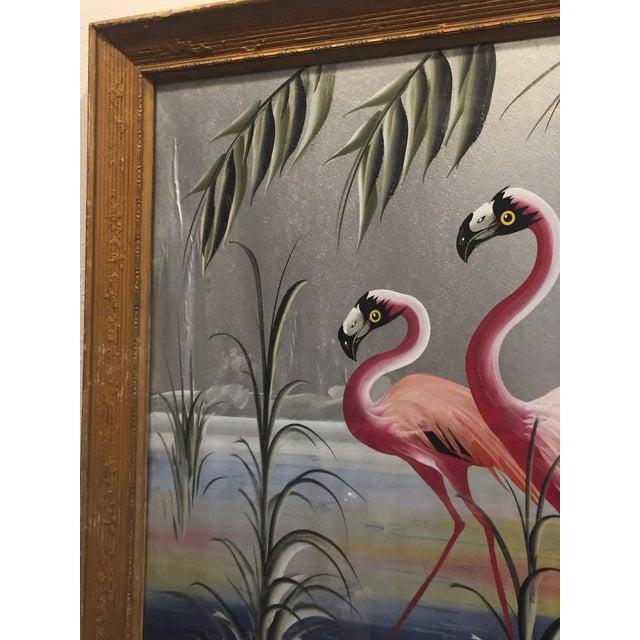 Hollywood Regency Flamingo Art - Image 5 of 6