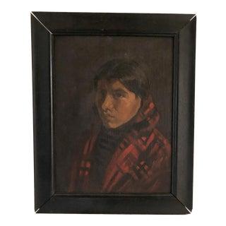 20th Century Native American Girl's Portrait For Sale