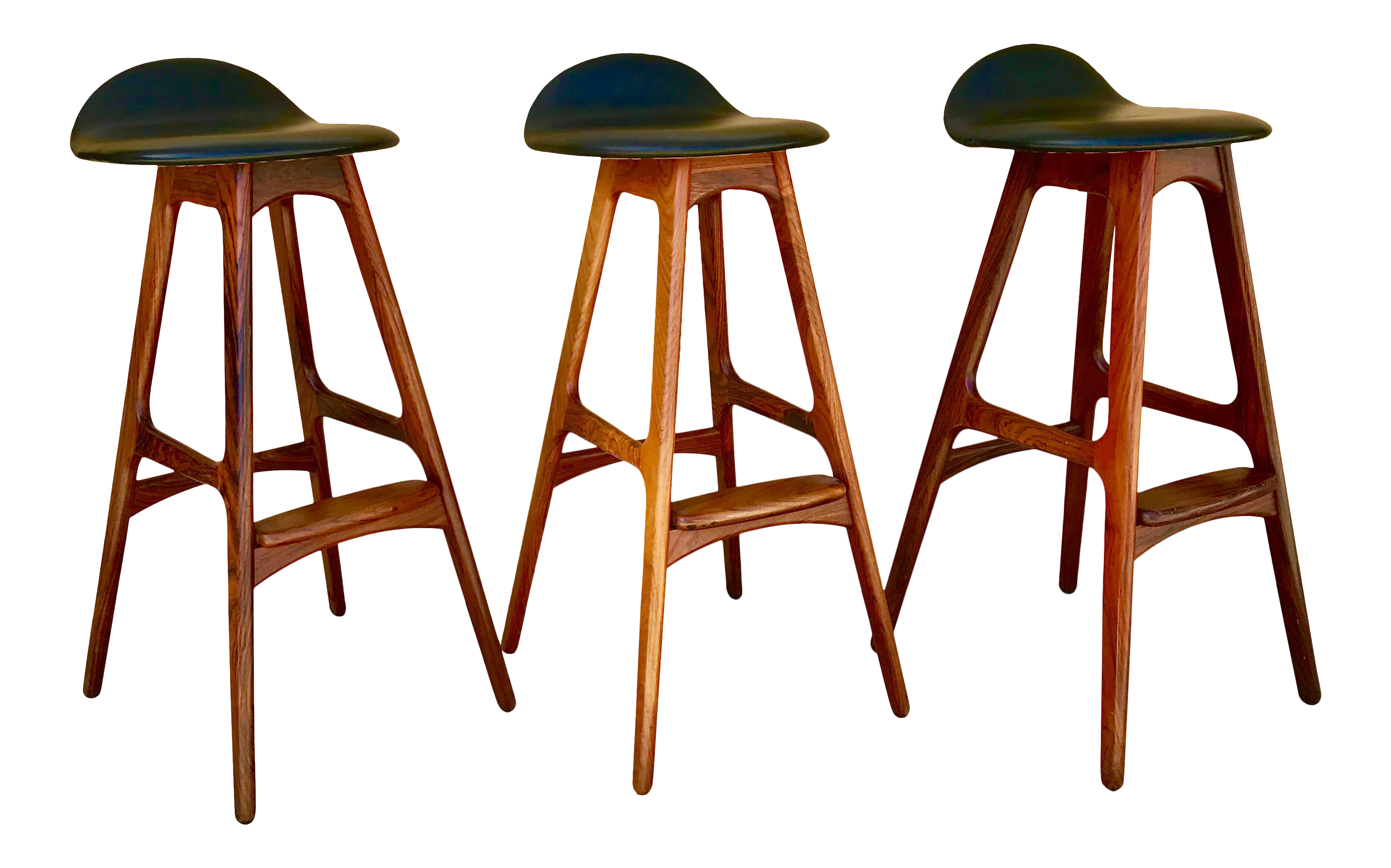vintage used danish modern bar stools chairish