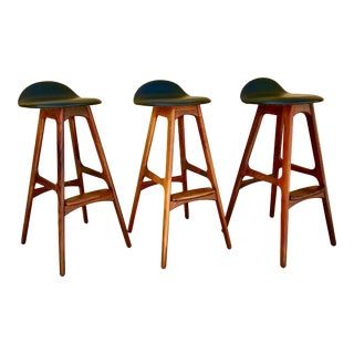 Erik Buch Rosewood Bar Stools - Set of 3