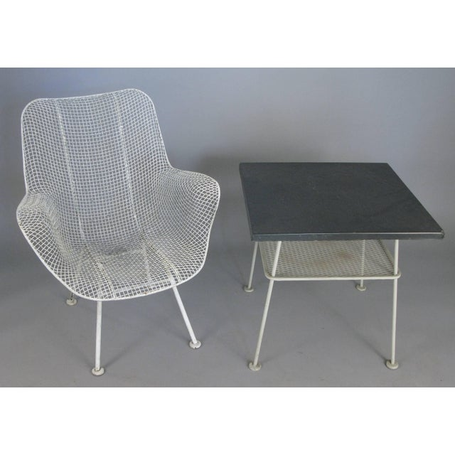 Metal Vintage 1950s Sculptura Wrought Iron Table by Russell Woodard For Sale - Image 7 of 8