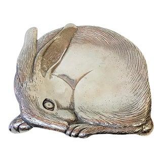 1980s Vintage Arthur Court Designs Rabbit Dish For Sale