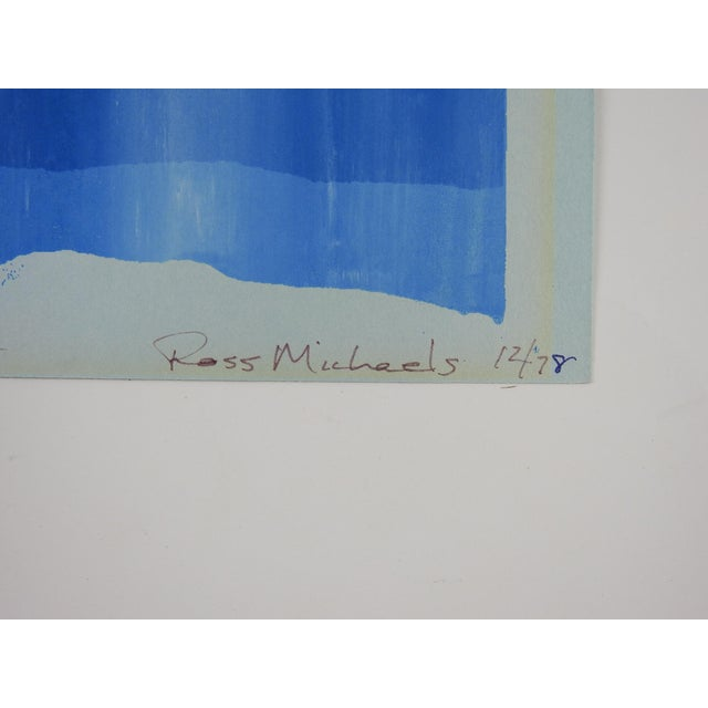 Study in Blue Abstract Serigraph For Sale - Image 4 of 5