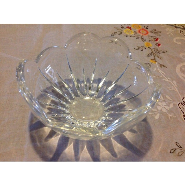 Mid 20th Century Vintage Blooming Flower Crystal Bowl For Sale - Image 5 of 5