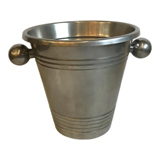 Vintage Stainless Steel Champagne Bucket For Sale