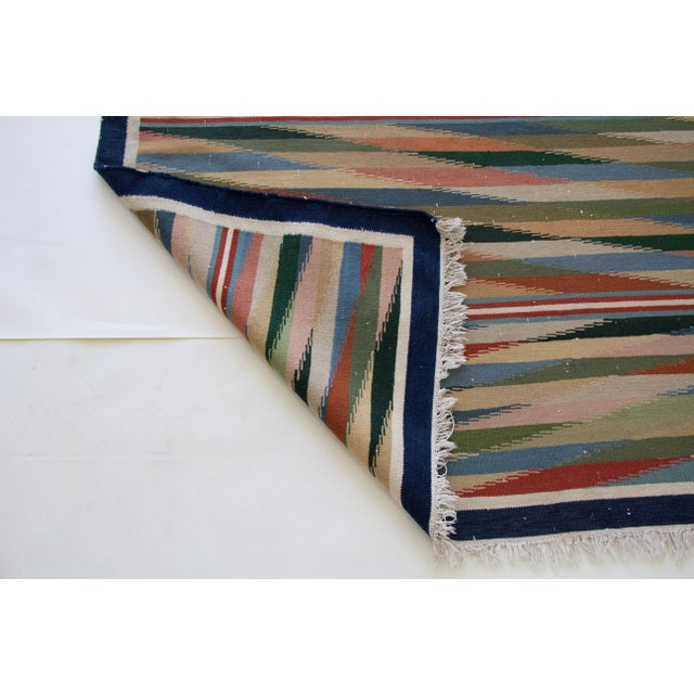 "Multicolor Dhurrie Area Rug - 6' X 8'6"" - Image 7 of 7"