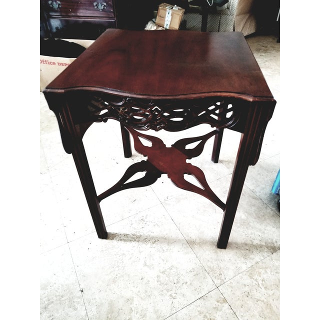 Mahogany Last Call, Delisting, Baker Historic Charlestown Collection Chippendale Dropleaf Pembroke Tea Table For Sale - Image 7 of 7