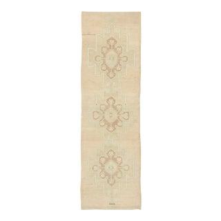 Vintage Turkish Oushak Rug, Hallway Runner - 03'02 X 10'05 For Sale