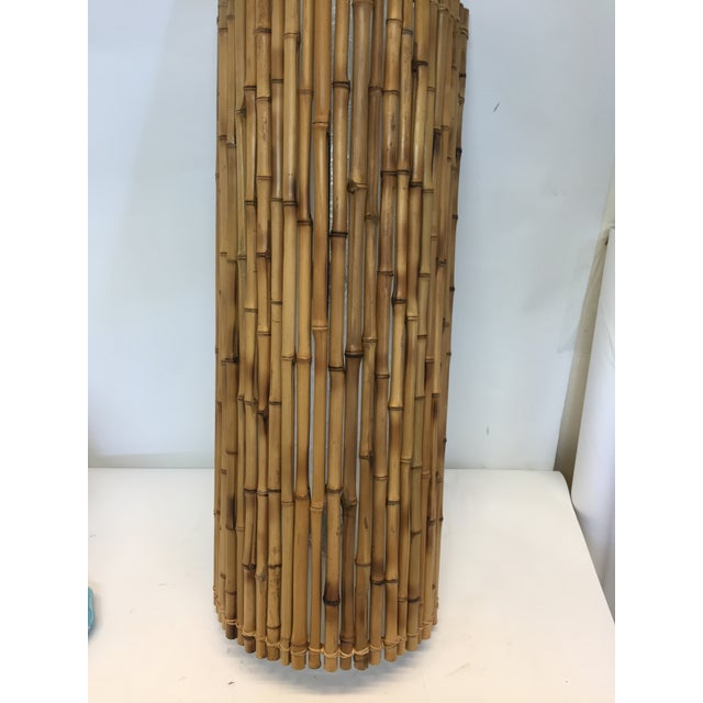 Balinese Bamboo Wall Sconce For Sale - Image 4 of 5