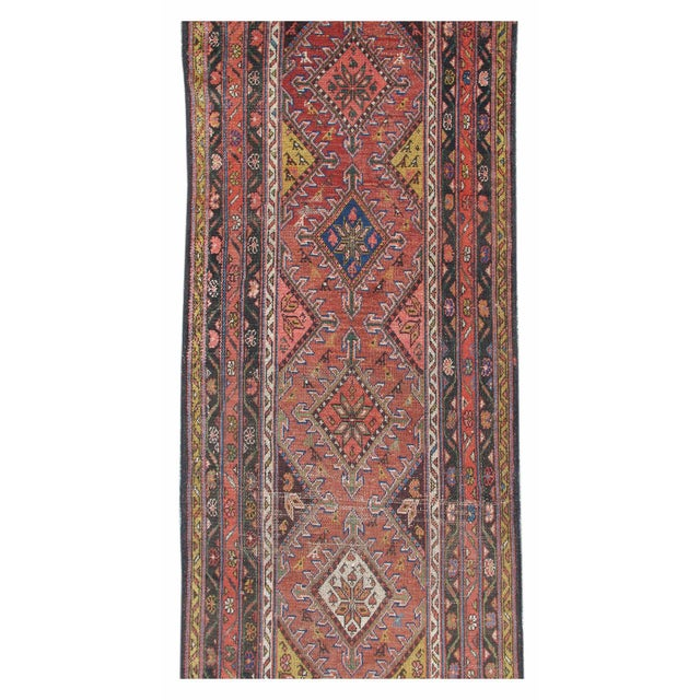 Colorful Hamadan Runner Rug - Image 2 of 3