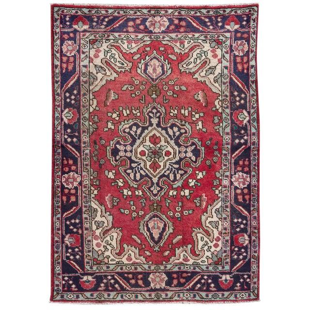 "Apadana - Vintage Persian Hamadan Rug, 4'3"" x 6'3"" - Image 1 of 4"