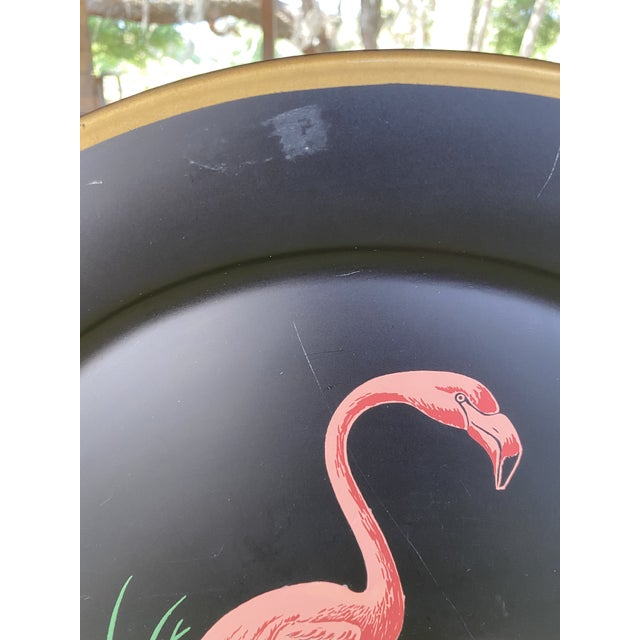 Vintage Florida Frank Childers Flamingo Wall Object For Sale - Image 4 of 11