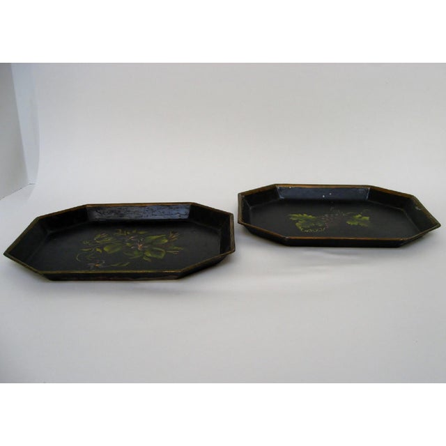 Vintage Small Tole Trays, a Pair For Sale - Image 4 of 6
