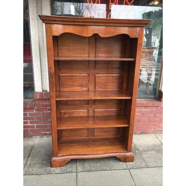 Large Solid Walnut Bookcase - Image 2 of 6