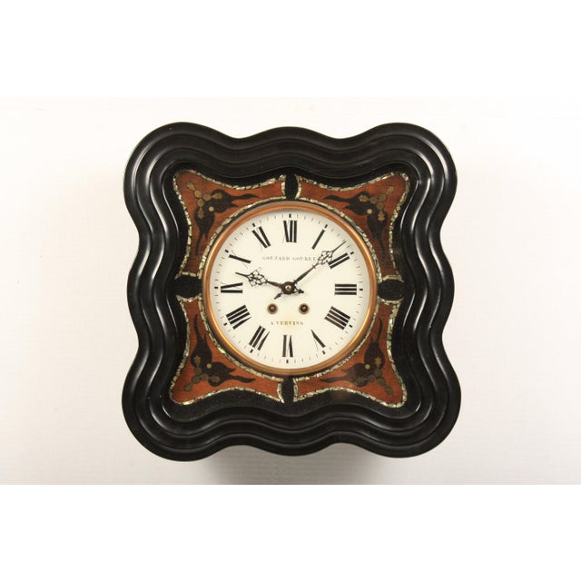 Abalone 19th-C. French Napoleon III Wall Clock For Sale - Image 7 of 7