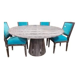 Worlds Away Black Cerused Oak Table For Sale
