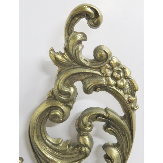 French Style Brass Sconces - a Pair For Sale - Image 4 of 5