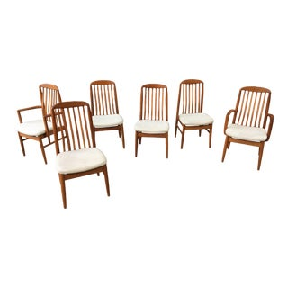 Solid Teak Dining Chairs - Set of 6 For Sale