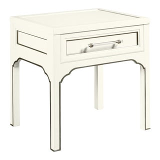 Laine Side Table, Cloud White For Sale