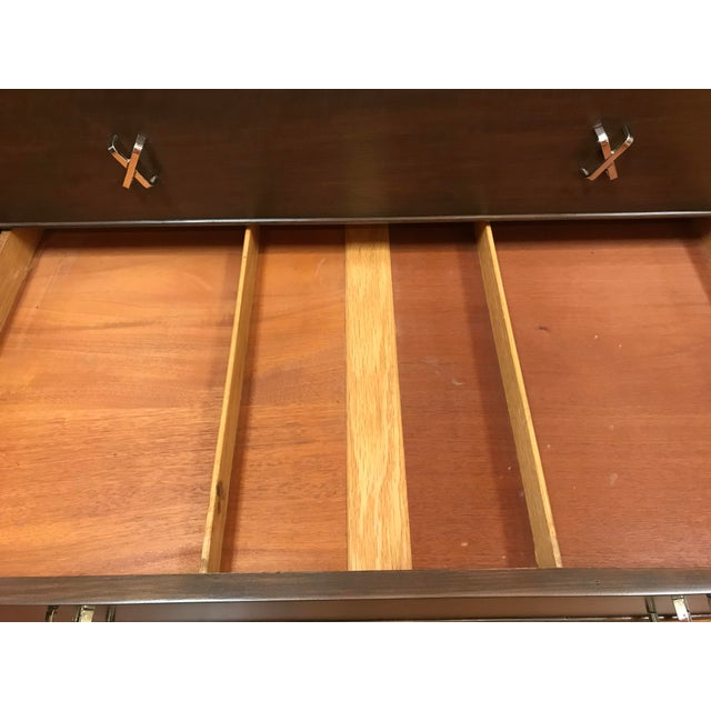 1950s 1950s Mid-Century Modern Paul Frankl 10-Drawer X Pull Double Chest Dresser For Sale - Image 5 of 12