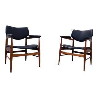 Mid Century Modern Thonet Walnut Chairs - a Pair For Sale