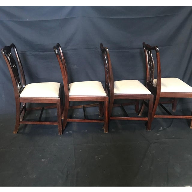 19th Century Antique English Mahogany Chippendale Style Dining Chairs-Set of 6 For Sale - Image 9 of 13