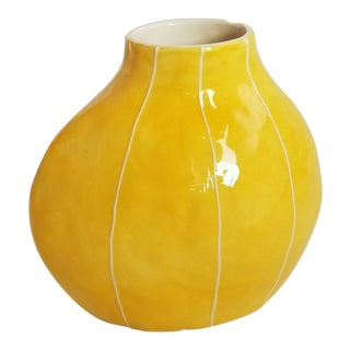 Pod Shape Yellow Vase