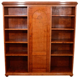 Neoclassical Mahogany, Birch and Ash Biedermeier Bookcase For Sale