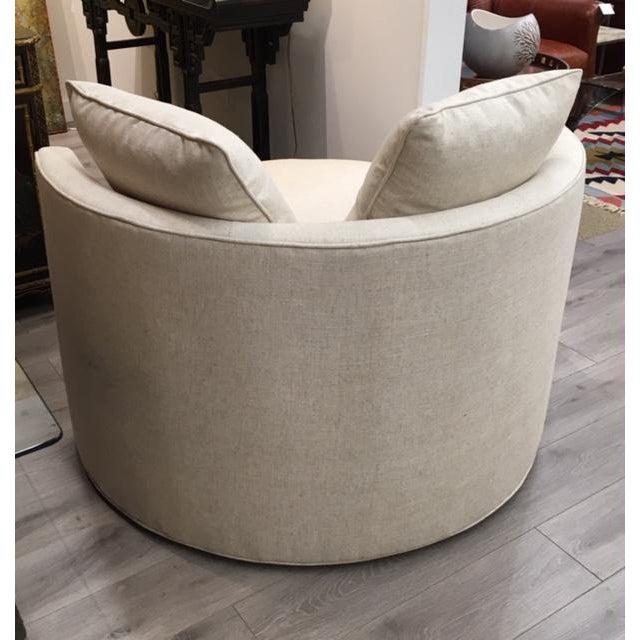 Leggett & Platt Chair and a Half Swivel For Sale - Image 4 of 6
