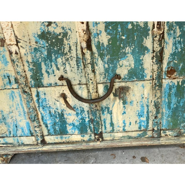 Antique Teak & Brass Trunk For Sale - Image 11 of 13