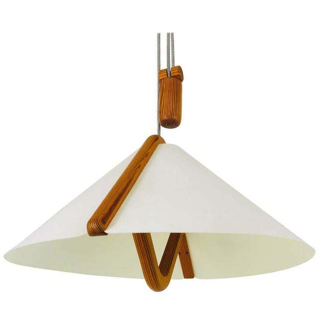 Adjustable Midcentury Wooden Pendant Lamp with Counterweight by Domus, 1960s For Sale - Image 13 of 13