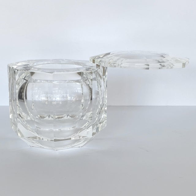 Transparent Lucite Ice Bucket by Alessando Albrizzi For Sale - Image 8 of 9