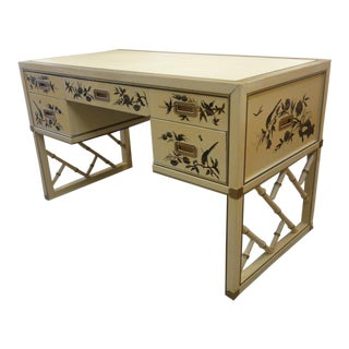 Faux Bamboo Chippendale Campaign Desk