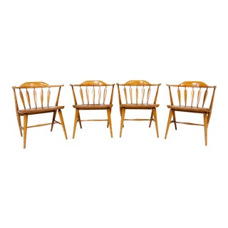 Vintage Mid Century Modern Windsor Chairs- Set of 4 For Sale