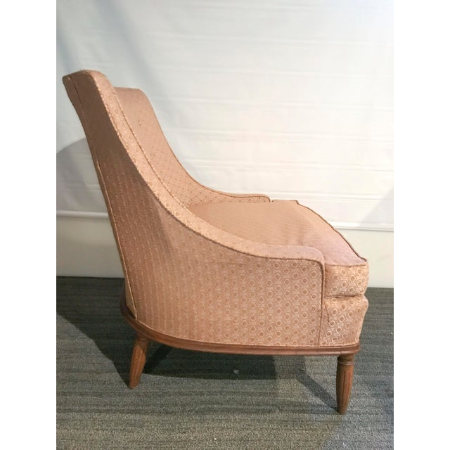 Mid-Century Modern Pale Pink Accent Chair - Image 9 of 11