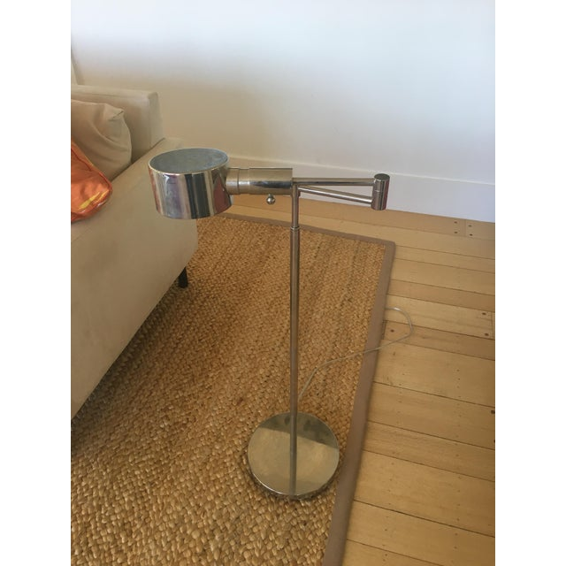 Phoenix Day Telescoping Swing Arm Floor Lamps - A Pair For Sale - Image 5 of 5