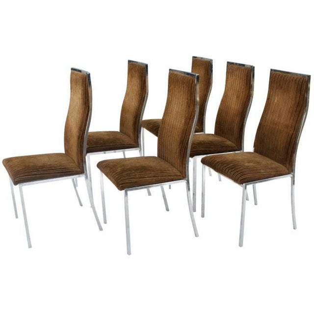 Milo Baughman Six Milo Baughman for Thayer Coggin Dining Chairs For Sale - Image 4 of 6