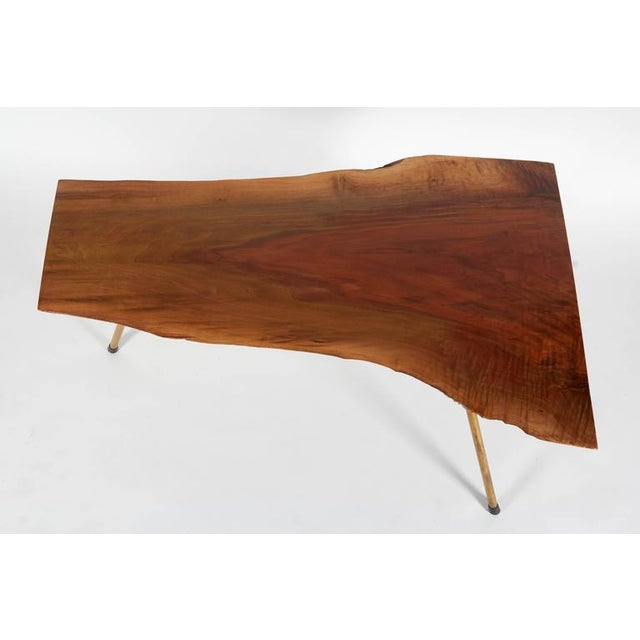 Carl Auböck Walnut Table by Carl Auböck For Sale - Image 4 of 7