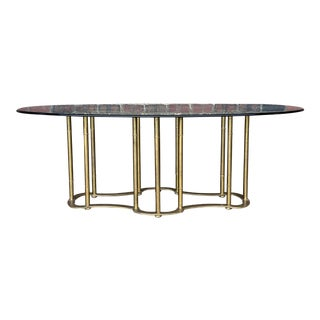 Mastercraft Glass Top Dining Table For Sale