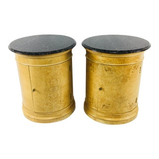 Burled Elm Side Tables - A Pair