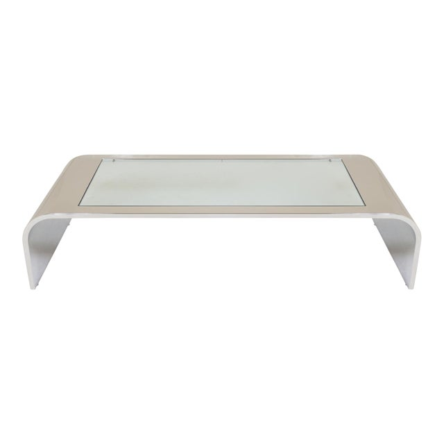 Stainless Steel Waterfall Cocktail Table by Brueton For Sale