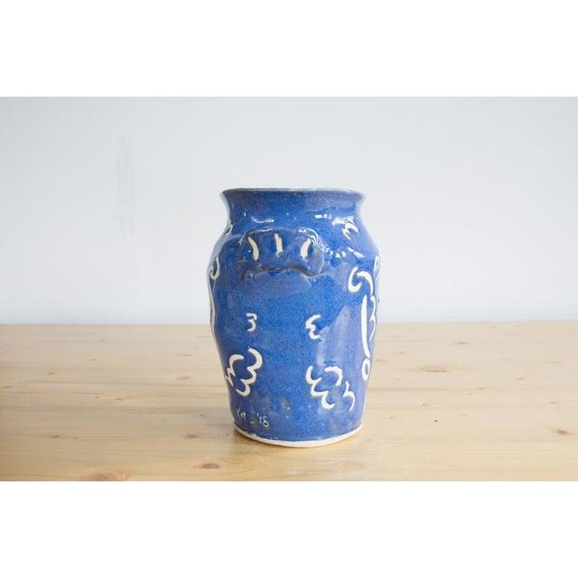 Kate Lewis Flowers Divine Original Pottery Vase For Sale - Image 4 of 7