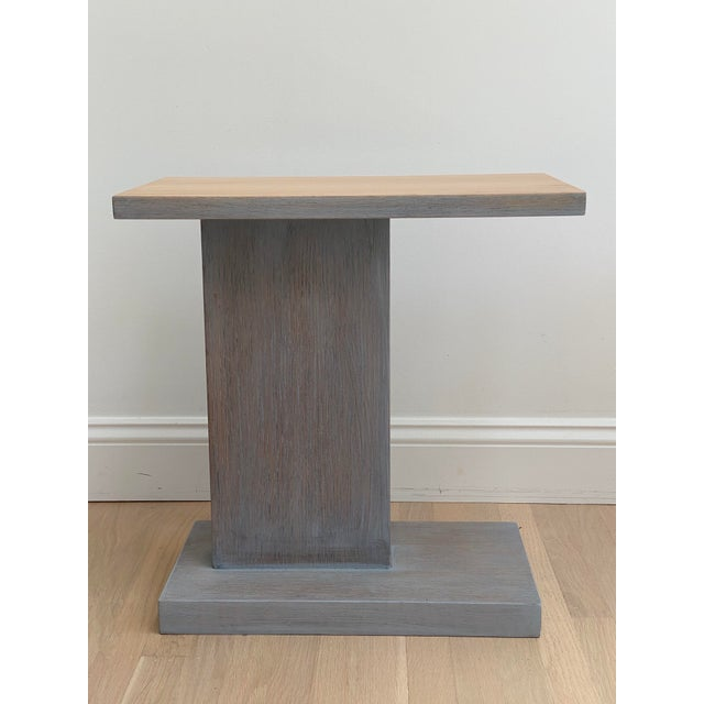Architectural Modern Side Table For Sale - Image 4 of 12