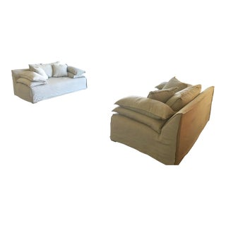Gray Loveseat Sofas - a Pair For Sale