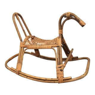 Scandinavian Mid-Century Rocking Horse For Sale