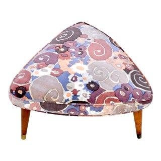 Jack Lenor Larsen Samarkand Velvet Upholstered Stool For Sale