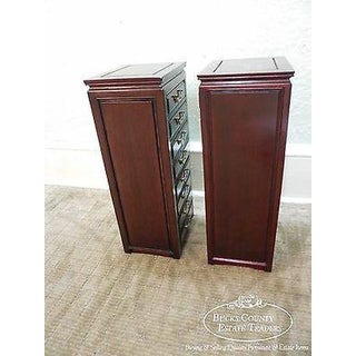 Quality Pair of Oriental Chinese Rosewood Table Top Jewelry Chests Preview