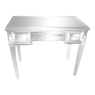 Custom Mirrored Writing Desk For Sale