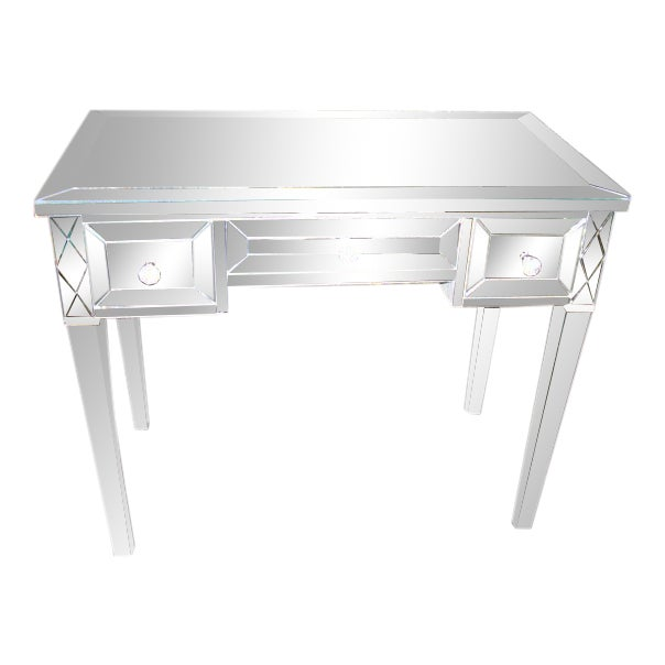 Custom Mirrored Writing Desk For Sale