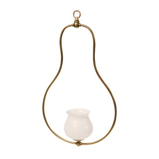Single Light Brass Hall Lantern For Sale